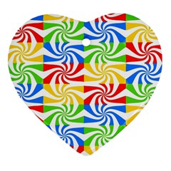 Colorful Abstract Creative Heart Ornament (two Sides)