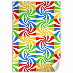Colorful Abstract Creative Canvas 12  x 18