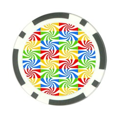 Colorful Abstract Creative Poker Chip Card Guard