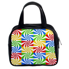 Colorful Abstract Creative Classic Handbags (2 Sides)