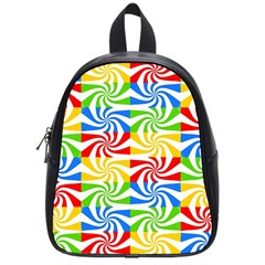 Colorful Abstract Creative School Bags (Small)