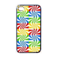 Colorful Abstract Creative Apple iPhone 4 Case (Black)
