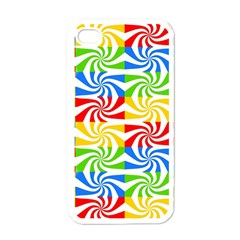Colorful Abstract Creative Apple iPhone 4 Case (White)