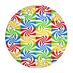 Colorful Abstract Creative Round Filigree Ornament (Two Sides)