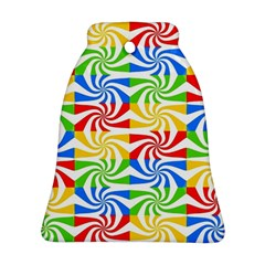 Colorful Abstract Creative Bell Ornament (Two Sides)