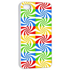 Colorful Abstract Creative Apple Iphone 4/4s Seamless Case (white)