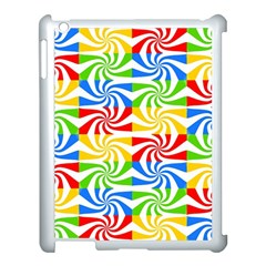 Colorful Abstract Creative Apple iPad 3/4 Case (White)