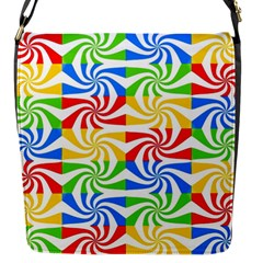 Colorful Abstract Creative Flap Messenger Bag (s)