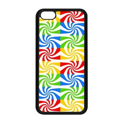 Colorful Abstract Creative Apple iPhone 5C Seamless Case (Black)