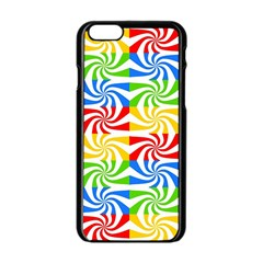 Colorful Abstract Creative Apple iPhone 6/6S Black Enamel Case