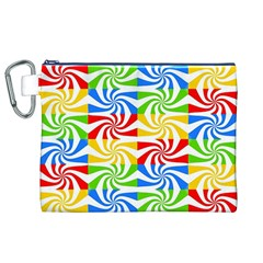 Colorful Abstract Creative Canvas Cosmetic Bag (XL)