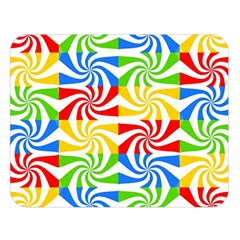 Colorful Abstract Creative Double Sided Flano Blanket (Large)