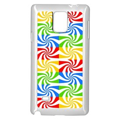 Colorful Abstract Creative Samsung Galaxy Note 4 Case (White)