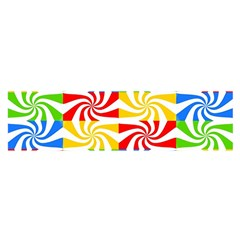 Colorful Abstract Creative Satin Scarf (oblong)