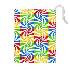 Colorful Abstract Creative Drawstring Pouches (Extra Large)
