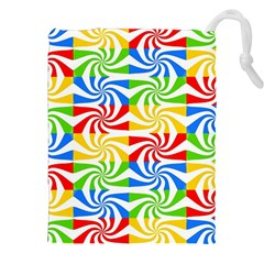 Colorful Abstract Creative Drawstring Pouches (XXL)