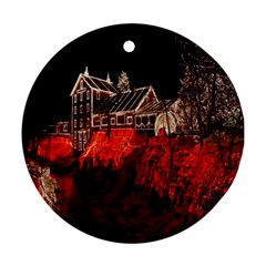 Clifton Mill Christmas Lights Ornament (Round)