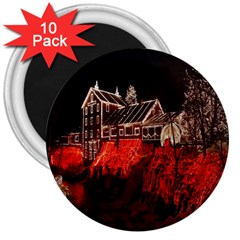Clifton Mill Christmas Lights 3  Magnets (10 pack)