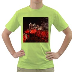 Clifton Mill Christmas Lights Green T Shirt
