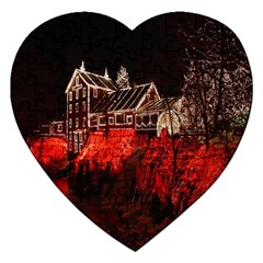 Clifton Mill Christmas Lights Jigsaw Puzzle (Heart)