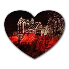 Clifton Mill Christmas Lights Heart Mousepads