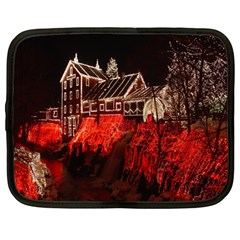 Clifton Mill Christmas Lights Netbook Case (large)
