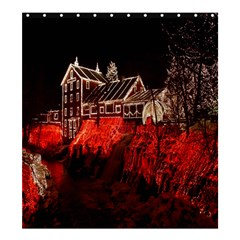 Clifton Mill Christmas Lights Shower Curtain 66  x 72  (Large)
