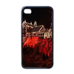Clifton Mill Christmas Lights Apple iPhone 4 Case (Black)