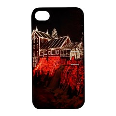 Clifton Mill Christmas Lights Apple Iphone 4/4s Hardshell Case With Stand