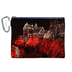 Clifton Mill Christmas Lights Canvas Cosmetic Bag (xl)
