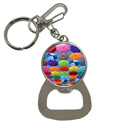 Color Umbrella Blue Sky Red Pink Grey And Green Folding Umbrella Painting Button Necklaces