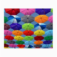 Color Umbrella Blue Sky Red Pink Grey And Green Folding Umbrella Painting Small Glasses Cloth (2-Side)