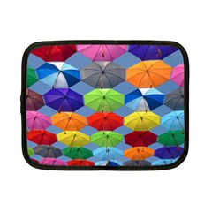 Color Umbrella Blue Sky Red Pink Grey And Green Folding Umbrella Painting Netbook Case (Small)