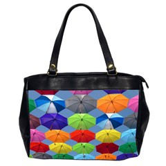 Color Umbrella Blue Sky Red Pink Grey And Green Folding Umbrella Painting Office Handbags (2 Sides)