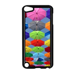 Color Umbrella Blue Sky Red Pink Grey And Green Folding Umbrella Painting Apple iPod Touch 5 Case (Black)