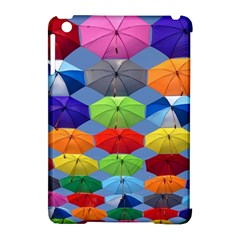Color Umbrella Blue Sky Red Pink Grey And Green Folding Umbrella Painting Apple iPad Mini Hardshell Case (Compatible with Smart Cover)