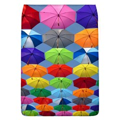 Color Umbrella Blue Sky Red Pink Grey And Green Folding Umbrella Painting Flap Covers (L)