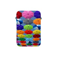 Color Umbrella Blue Sky Red Pink Grey And Green Folding Umbrella Painting Apple iPad Mini Protective Soft Cases