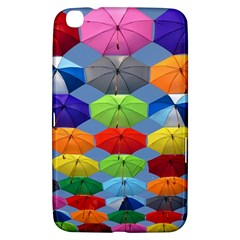 Color Umbrella Blue Sky Red Pink Grey And Green Folding Umbrella Painting Samsung Galaxy Tab 3 (8 ) T3100 Hardshell Case