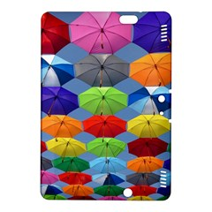 Color Umbrella Blue Sky Red Pink Grey And Green Folding Umbrella Painting Kindle Fire Hdx 8 9  Hardshell Case