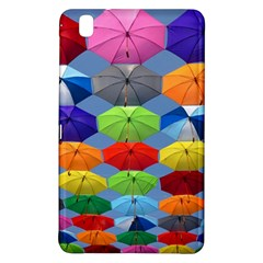 Color Umbrella Blue Sky Red Pink Grey And Green Folding Umbrella Painting Samsung Galaxy Tab Pro 8 4 Hardshell Case