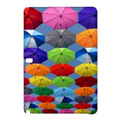 Color Umbrella Blue Sky Red Pink Grey And Green Folding Umbrella Painting Samsung Galaxy Tab Pro 12 2 Hardshell Case