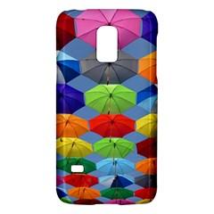 Color Umbrella Blue Sky Red Pink Grey And Green Folding Umbrella Painting Galaxy S5 Mini