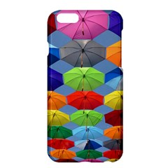 Color Umbrella Blue Sky Red Pink Grey And Green Folding Umbrella Painting Apple Iphone 6 Plus/6s Plus Hardshell Case