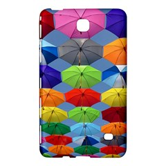 Color Umbrella Blue Sky Red Pink Grey And Green Folding Umbrella Painting Samsung Galaxy Tab 4 (7 ) Hardshell Case