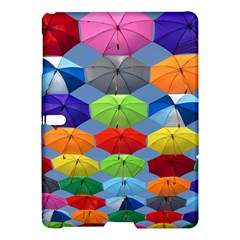 Color Umbrella Blue Sky Red Pink Grey And Green Folding Umbrella Painting Samsung Galaxy Tab S (10 5 ) Hardshell Case