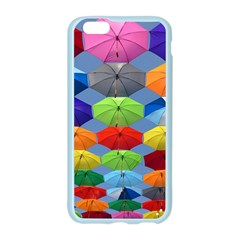 Color Umbrella Blue Sky Red Pink Grey And Green Folding Umbrella Painting Apple Seamless iPhone 6/6S Case (Color)