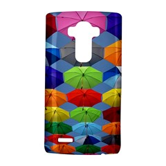 Color Umbrella Blue Sky Red Pink Grey And Green Folding Umbrella Painting Lg G4 Hardshell Case