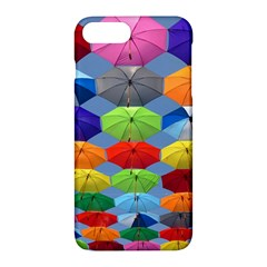 Color Umbrella Blue Sky Red Pink Grey And Green Folding Umbrella Painting Apple iPhone 7 Plus Hardshell Case