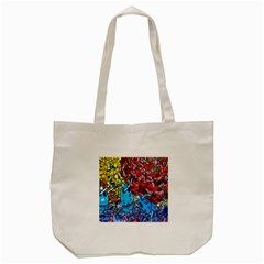 Colorful Graffiti Art Tote Bag (Cream)